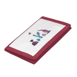 Cacti art trifold wallets