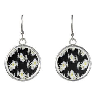 Cacti_Flower_Envy_Ladies_Silver_Round_Earrings. Earrings