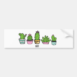 cacti grouping bumper sticker