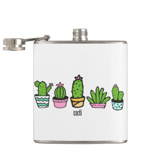cacti grouping hip flask