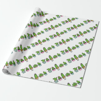 cacti grouping wrapping paper