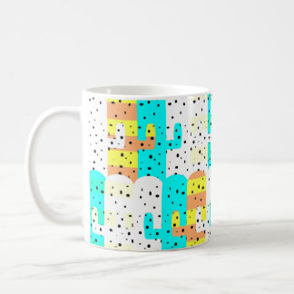 Cacti pattern coffee mug