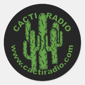 Cacti Radio Round Sticker