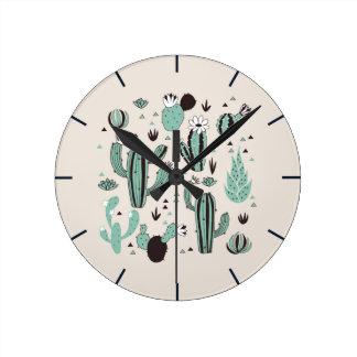 Cacti Round Clock