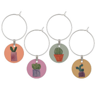 Cacti Wine Charms