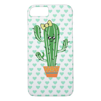 Cacti with bow Apple iPhone 8/7, Barely There iPhone 8/7 Case