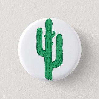cactus 3 cm round badge