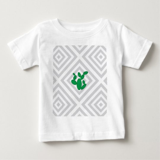 Cactus - Abstract geometric pattern - grey. Baby T-Shirt