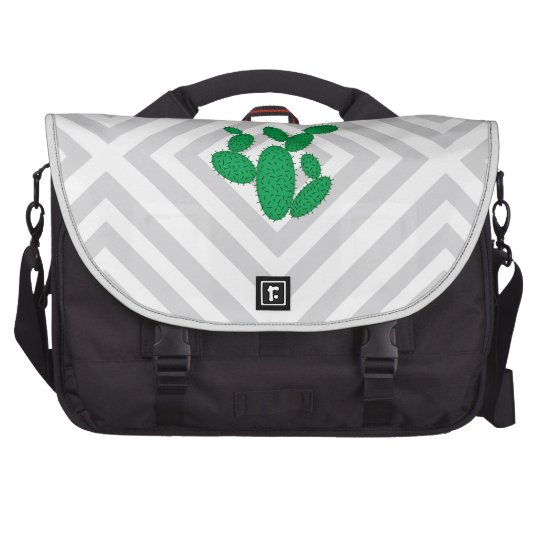 Cactus - Abstract geometric pattern - grey. Bag For Laptop