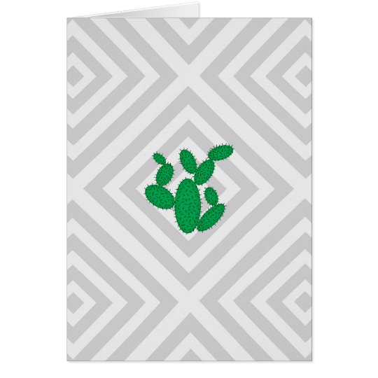 Cactus - Abstract geometric pattern - grey. Card