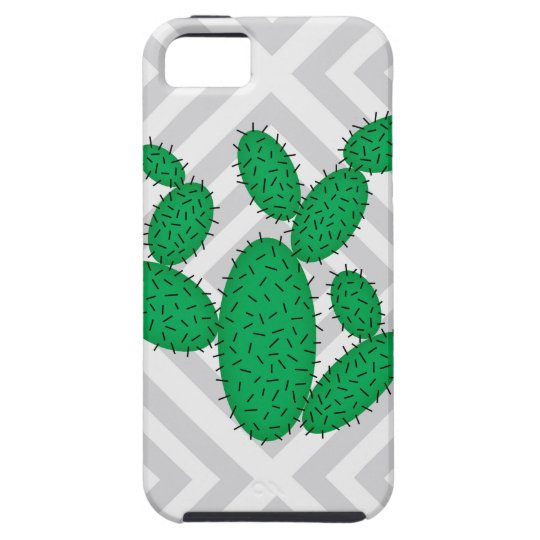 Cactus - Abstract geometric pattern - grey. Case For The iPhone 5