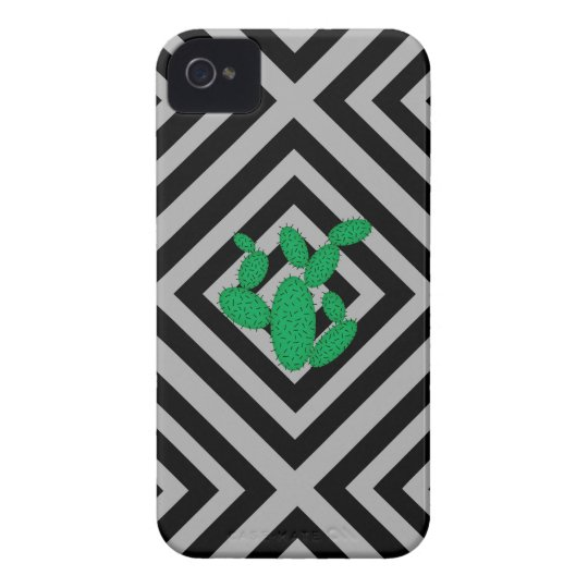 Cactus - Abstract geometric pattern - grey. Case-Mate iPhone 4 Cases