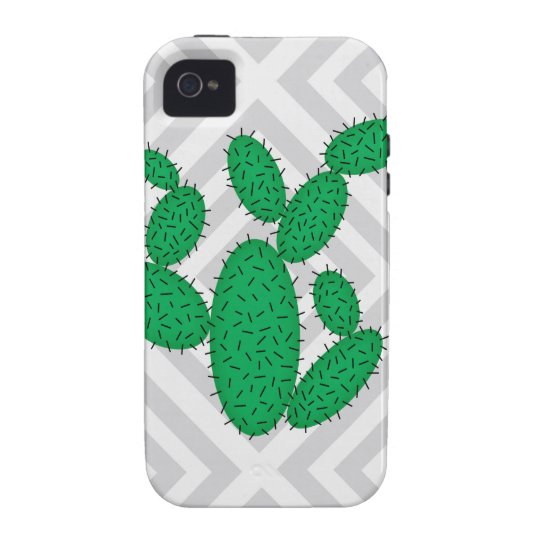 Cactus - Abstract geometric pattern - grey. iPhone 4 Case