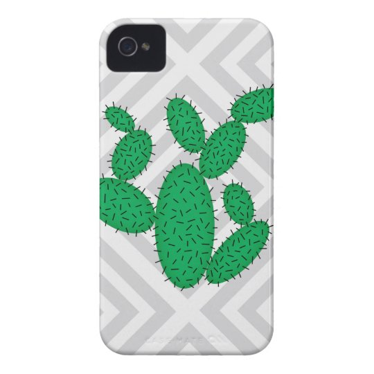 Cactus - Abstract geometric pattern - grey. iPhone 4 Cases
