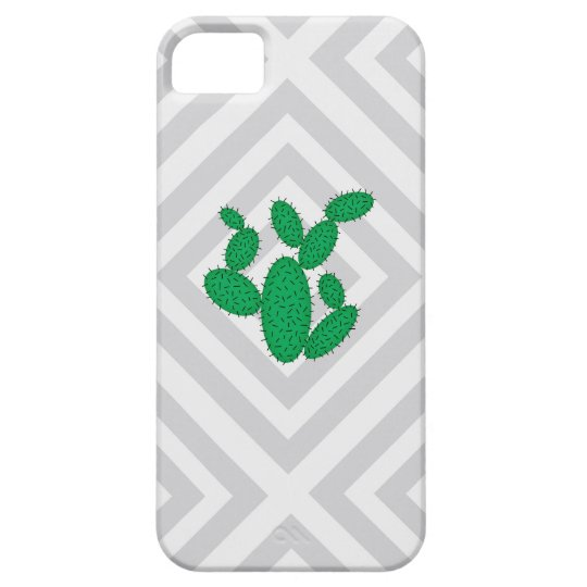 Cactus - Abstract geometric pattern - grey. iPhone 5 Cases
