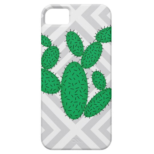 Cactus - Abstract geometric pattern - grey. iPhone 5 Covers