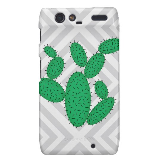Cactus - Abstract geometric pattern - grey. Motorola Droid RAZR Cover