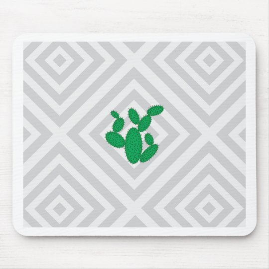 Cactus - Abstract geometric pattern - grey. Mouse Pad
