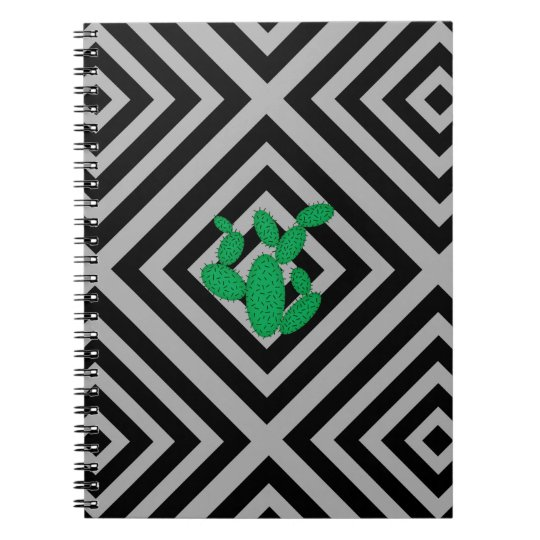 Cactus - Abstract geometric pattern - grey. Notebooks