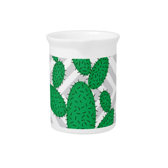 Cactus - Abstract geometric pattern - grey. Pitcher