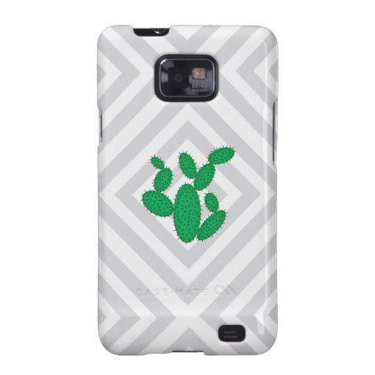 Cactus - Abstract geometric pattern - grey. Samsung Galaxy S2 Cover