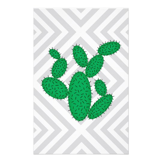 Cactus - Abstract geometric pattern - grey. Stationery