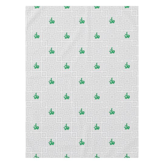 Cactus - Abstract geometric pattern - grey. Tablecloth