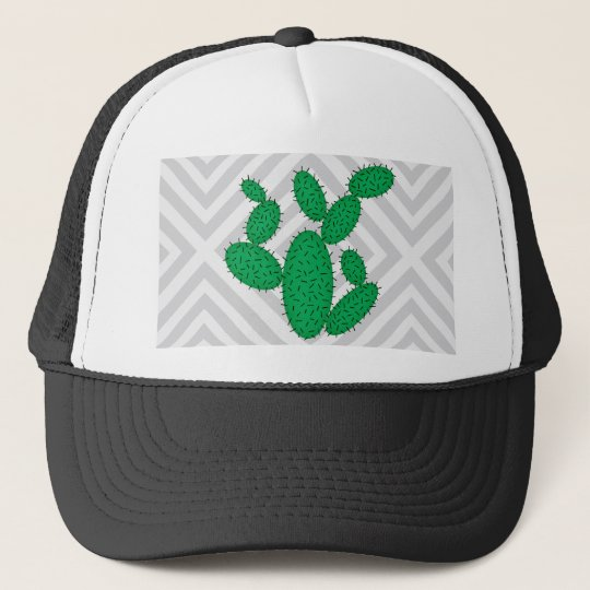 Cactus - Abstract geometric pattern - grey. Trucker Hat
