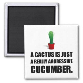 Cactus Aggressive Cucumber Magnet