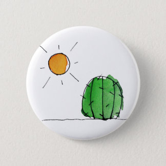 "Cactus and Sun Watercolor 2"" Button"