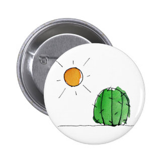 "Cactus and Sun Watercolor 2"" Button"