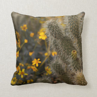 cactus and wildflowers cushion