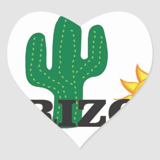 Cactus az heart sticker