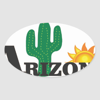Cactus az oval sticker