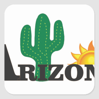 Cactus az square sticker