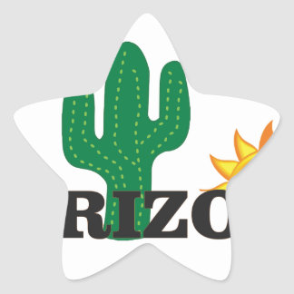 Cactus az star sticker