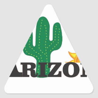 Cactus az triangle sticker