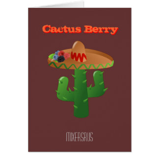 Cactus Berry Drink Recipe Greeting Card