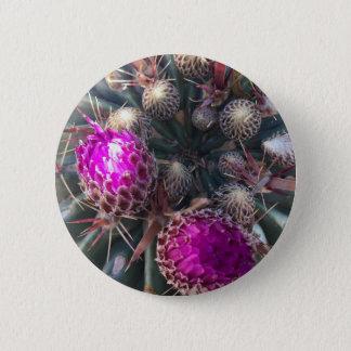 Cactus blossom 6 cm round badge