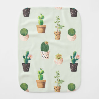 Cactus burp cloth