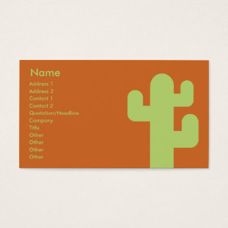 Cactus - Business Business Card