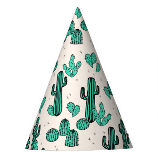 Cactus / Cacti Green Cream Tropic / Andrea Lauren Party Hat