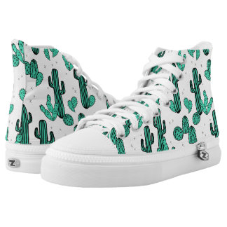 Cactus / Cacti Green Cream Tropic / Andrea Lauren Printed Shoes