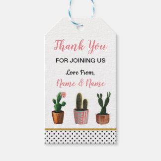 Cactus Cacti Thank You Tags Polka Dot Wedding