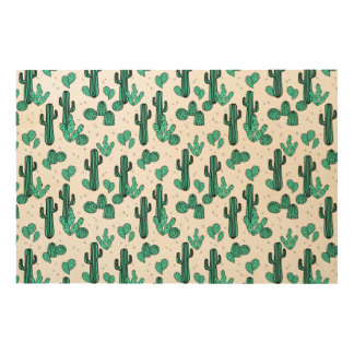 Cactus Cacti Tropic Summer Southwest Andrea Lauren Wood Canvases