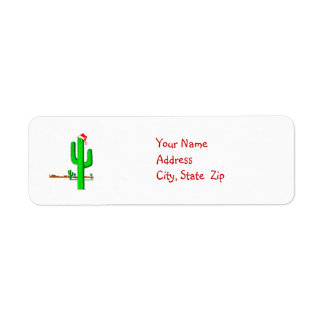 Cactus Christmas Tree - Address Labels