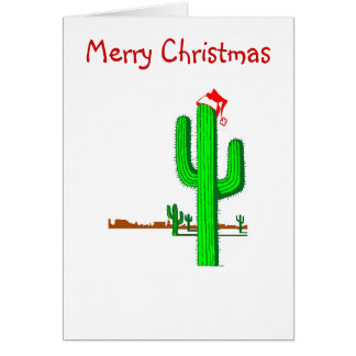 Cactus Christmas Tree - Note Card