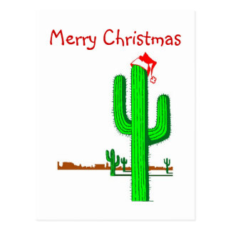 Cactus Christmas Tree - Postcard