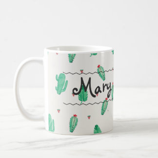 Cactus Custom Name Coffee Mug