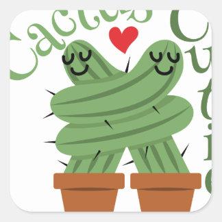 Cactus Cuties Square Sticker